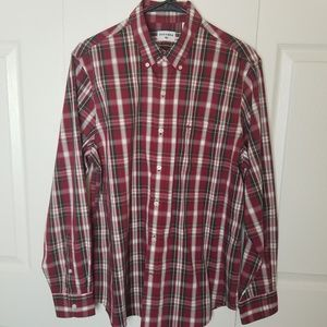 Dockers Long Sleeve Plaid Button Down Size Medium